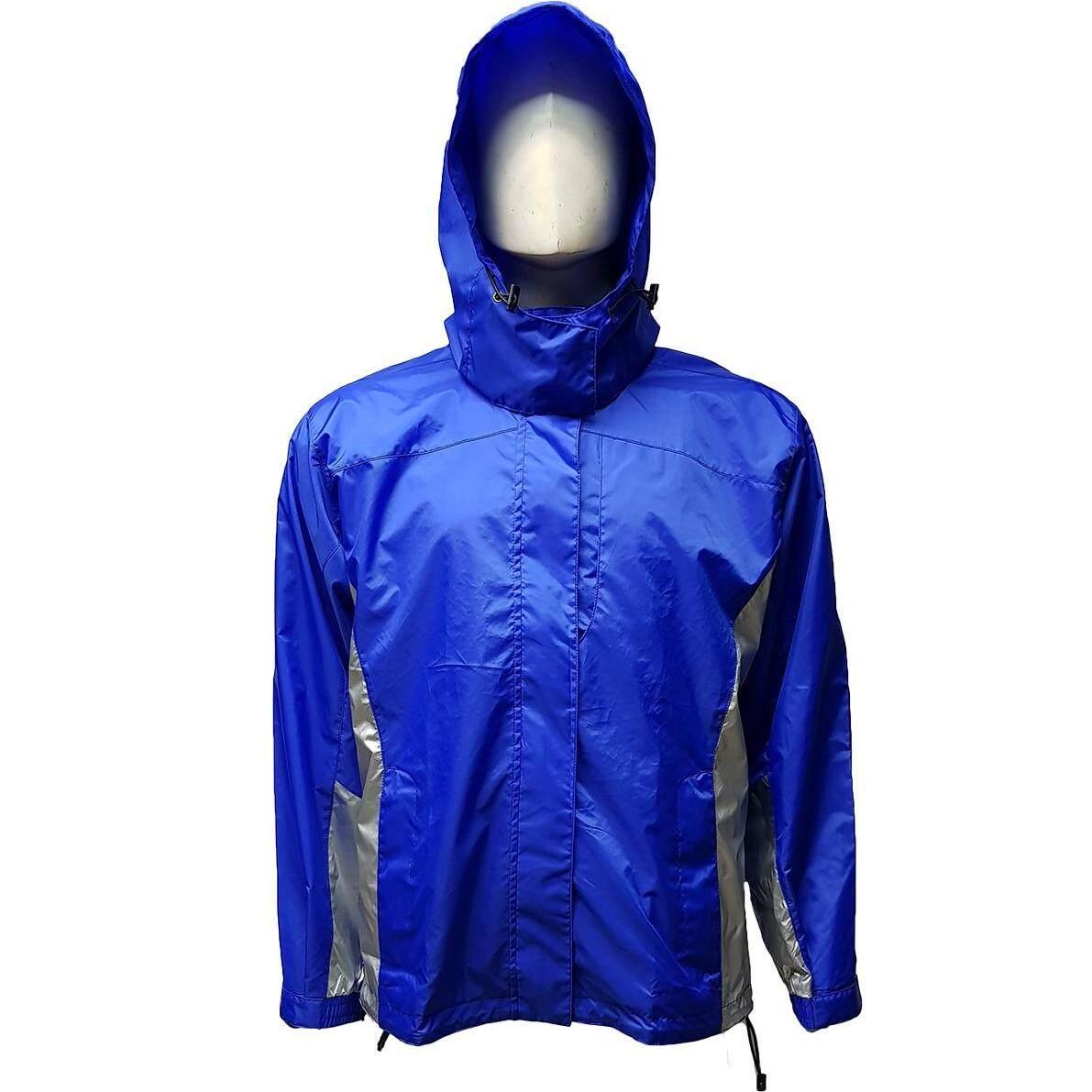 ผ้าฟลีซรอบคอด้านใน เสื้อแจ๊กเก็ตกันหนาว กันลม มีฮู๊ดถอดได้ มีกระเป๋ารูดซิปด้านข้างและอก By Outdo.