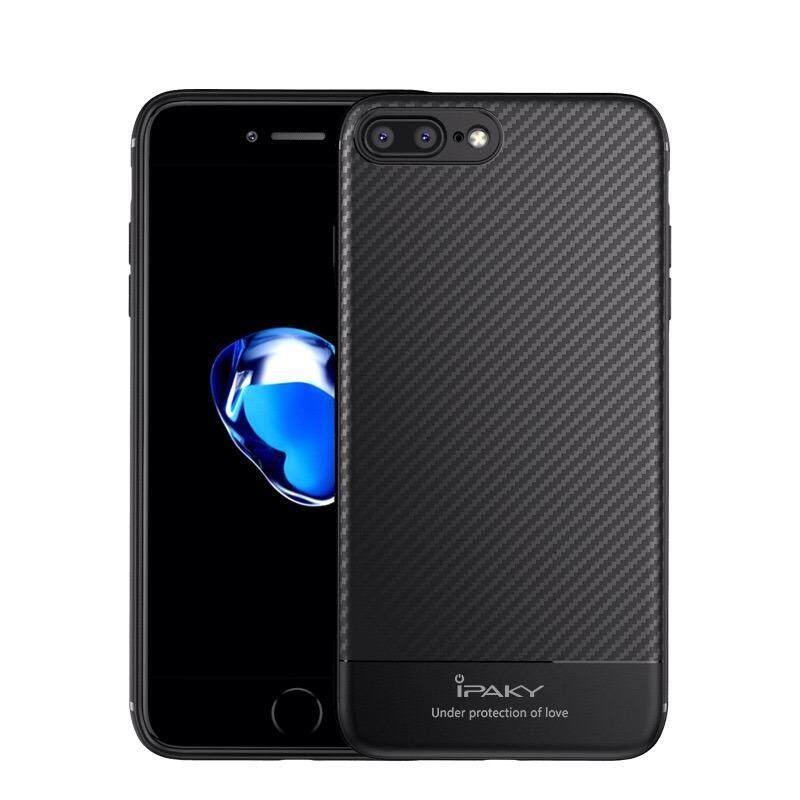 ขาย Ipaky Luxury Carbon Fiber Tpu Silicone Case For Apple Iphone 7 8 Plus เคส ไอปากี้ รุ่นลักซ์ชัวรี่ คาร์บอน ไฟเฟบอร์ ซิลิโคน ทีพียู สำหรับ แอปเปิ้ล ไอโฟน เจ็ด แปด พลัส กันกระแทก ใน กรุงเทพมหานคร