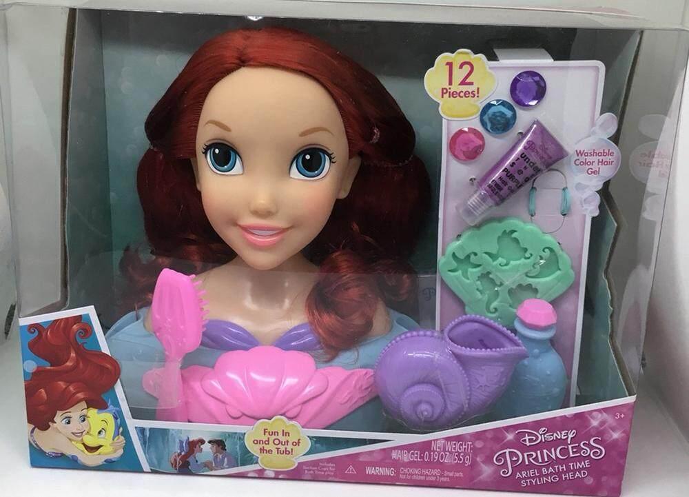 ตุ๊กตา Disney Princess Ariel Bath Time Styling Head