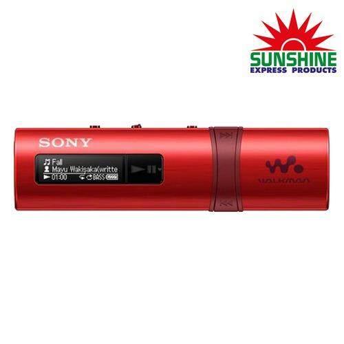 Sony เครื่องเล่น Mp3 รุ่น Nwz B183F Rc ขนาด 4 Gb สีแดง Sony ถูก ใน ไทย