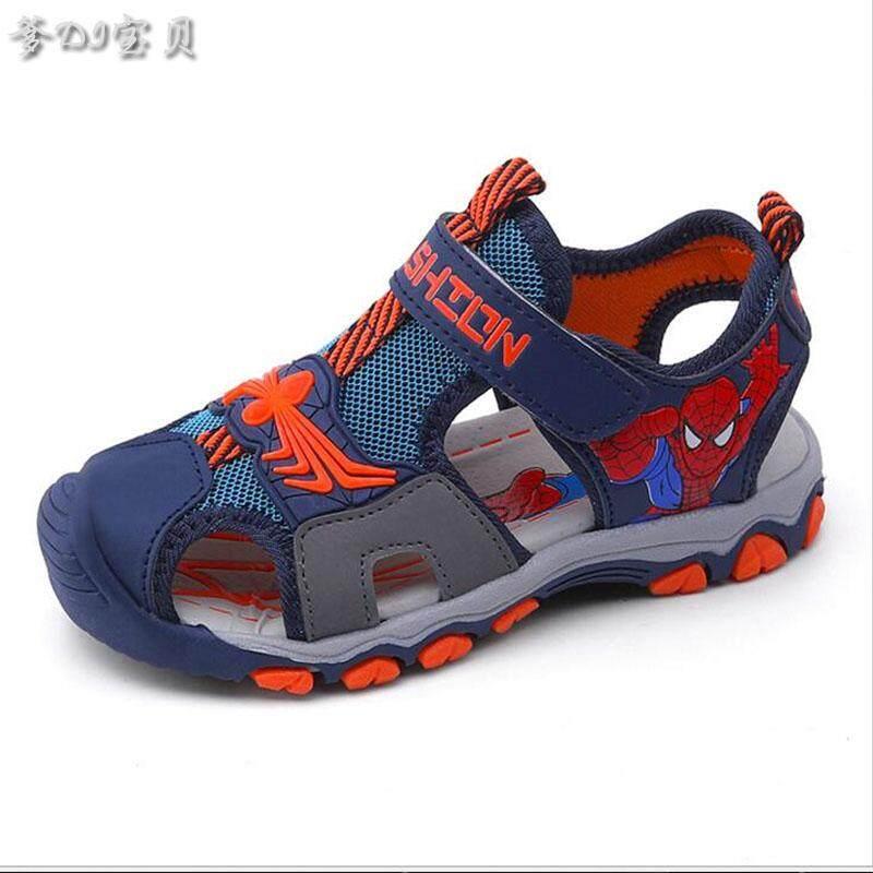 รองเท้าเด็กลื่นรองเท้าแตะเด็กชาย Spider-Man.
