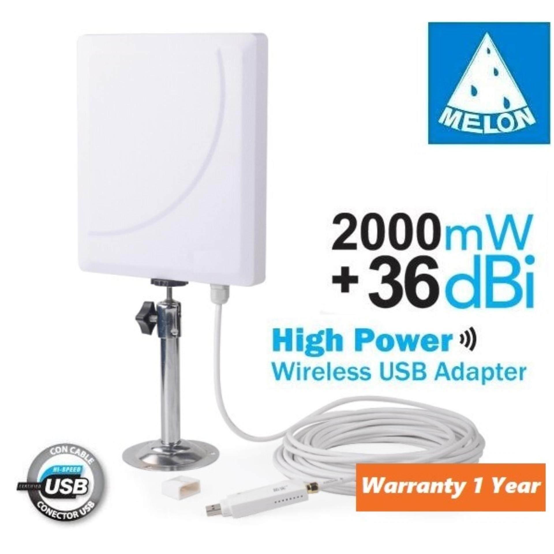 Usb Wifi Adapter High Power ตัวรับสัญญาณ Wifi Outdoor ระยะไกล สัญญาณแรงสุดๆ Melon N918.