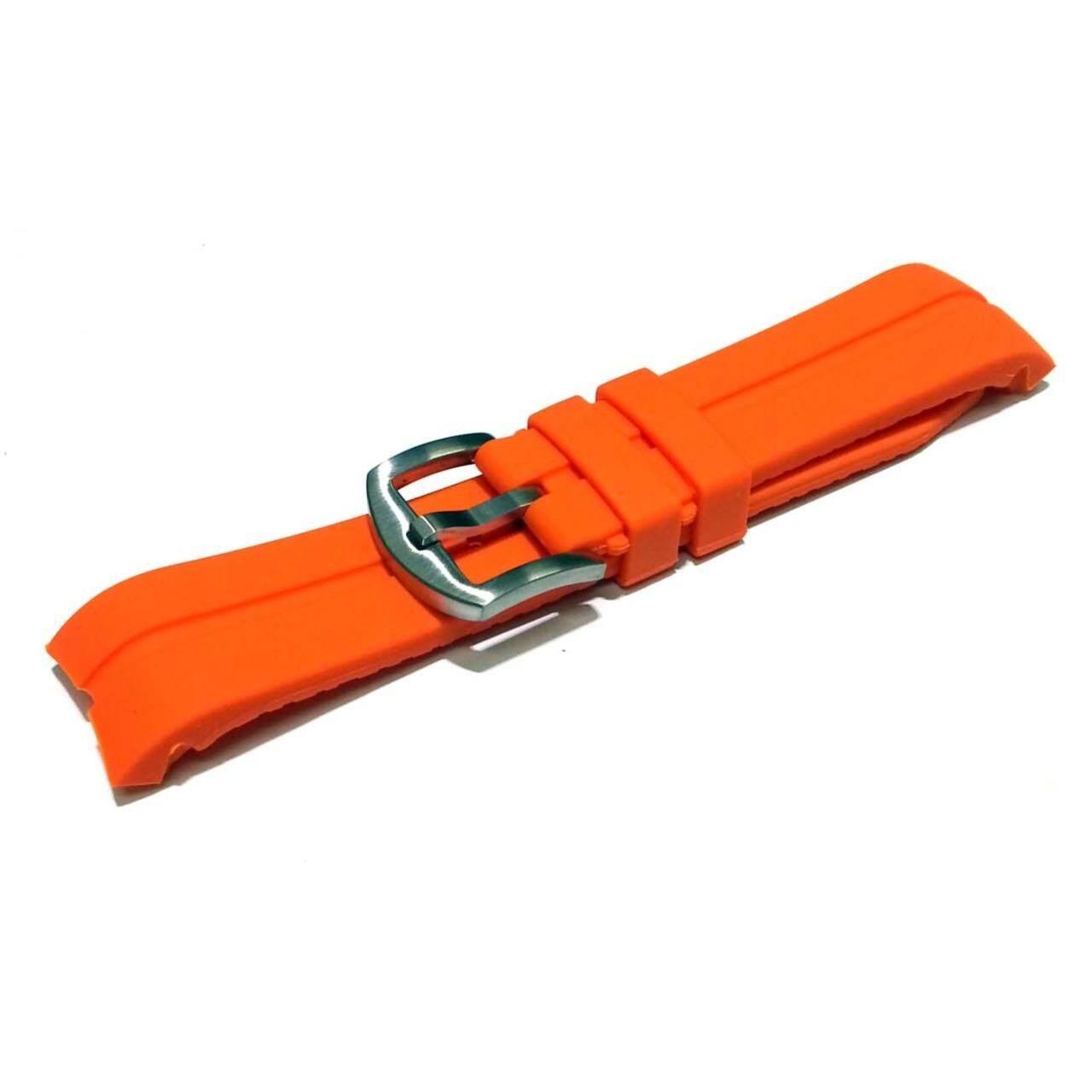 ขาย ซื้อ Nt Watch Shop สายนาฬิกา สายยาง ซิลิโคน Bfr หัวโค้ง 22 มม สีส้ม ใน นครปฐม