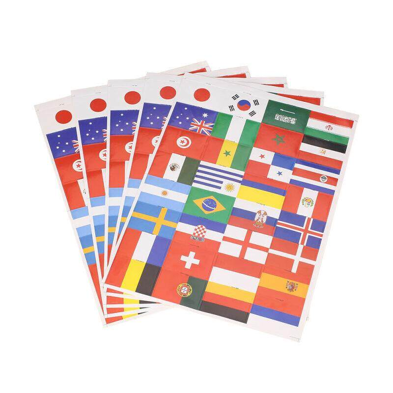 National Flag Sticker Face Stickers Fun 5pcs/lot Paper Ornaments Fan By Charleybrewer.