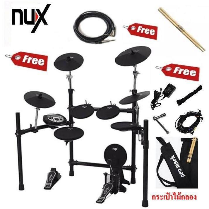 สุดยอดสินค้า!! ส่งด่วนฟรี Kerry drum Nux dm5 กลองไฟฟ้าที่ขายดีที่สุด มีกลองรวมฉาบถึง 9 ใบ ใช้สองกระเดื่องได้ การตอบสนองดี ตั้งและบันทึกเสียงได้ แถมฟรี ไม้กลอง และกระเป๋าไม้กลอง Promark+Adepter+สายสัญญ