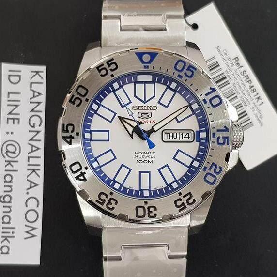 ยี่ห้อไหนดี  นราธิวาส Seiko นาฬิกาข้อมือ Snow Mini Monster Silver Stainless Strap SRP481K1
