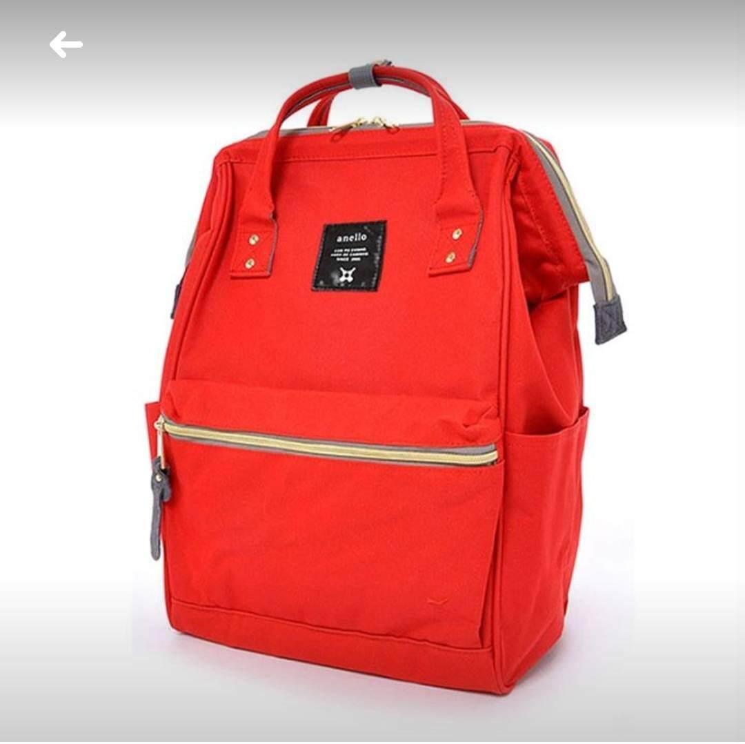 การใช้งาน  นครสวรรค์ Anello Regular Backpack แดงสด