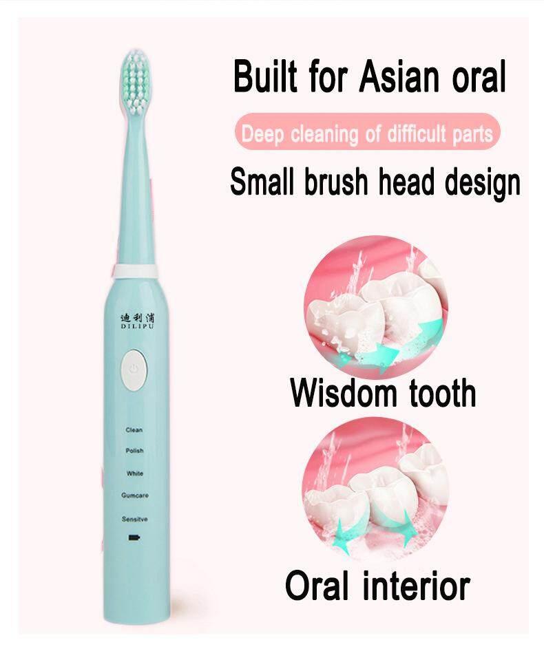 แปรงสีฟันไฟฟ้า ทำความสะอาดทุกซี่ฟันอย่างหมดจด ปทุมธานี แปรงสีฟันไฟฟ้า แปรงสีฟันไฟฟ้ากันน้ำแปรงสีฟันโซนิกที่ชาร์จได้อัพเกรด Ultra แปรงสีฟันคลื่นเสียงอัจฉริขภาพฟัน Electric Toothbrushes  Vitality Precision clean
