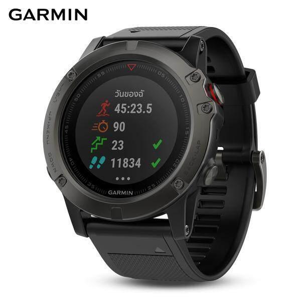 ยี่ห้อไหนดี  นครนายก GARMIN SMARTWATCH รุ่น Fenix 5X Sapphire  Slate Gray  GPS Watch  SEA (รับประกันศูนย์ไทย 1 ปี)
