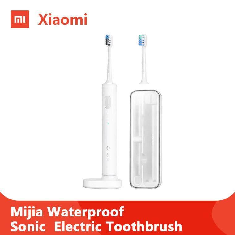 แปรงสีฟันไฟฟ้า รอยยิ้มขาวสดใสใน 1 สัปดาห์ หนองคาย Xiaomi Mijia Waterproof Sonic Electric Toothbrush แปรงสีฟันไฟฟ้าแบบพกพาไร้สาย แปรงสีฟัน ฟันแปรง Youpin BET C01