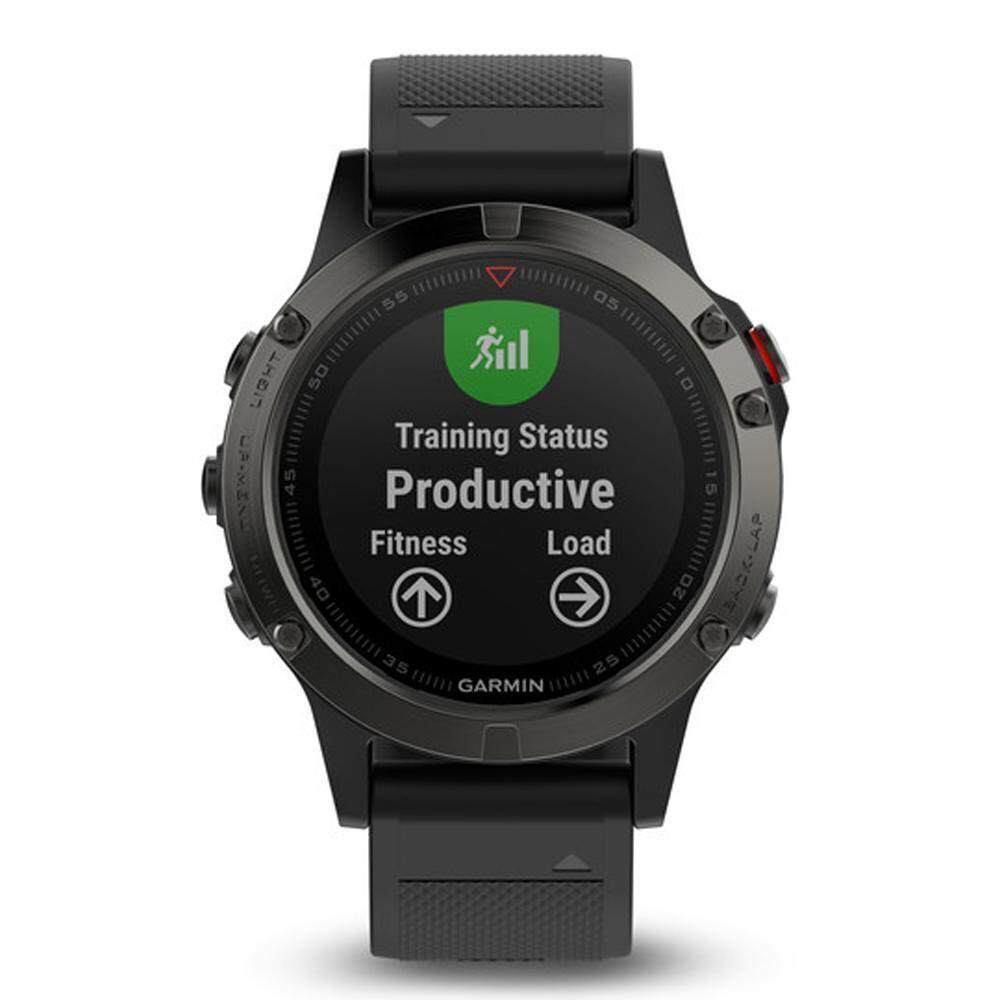ประจวบคีรีขันธ์ Garmin Fēnix 5 GM-010-01688-50 Smart Digital Black Silicone Unisex Smartwatch