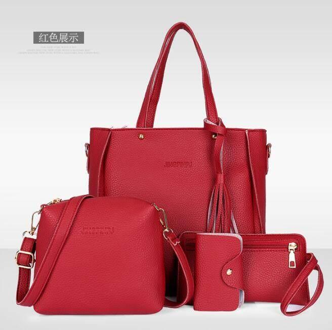 กระเป๋าเป้สะพายหลัง นักเรียน ผู้หญิง วัยรุ่น อุทัยธานี กระเป๋าเซ็ต 4 ใบ กระเป๋าถือ กระเป๋าสะพาย กระเป๋าสะพายไหล M 175