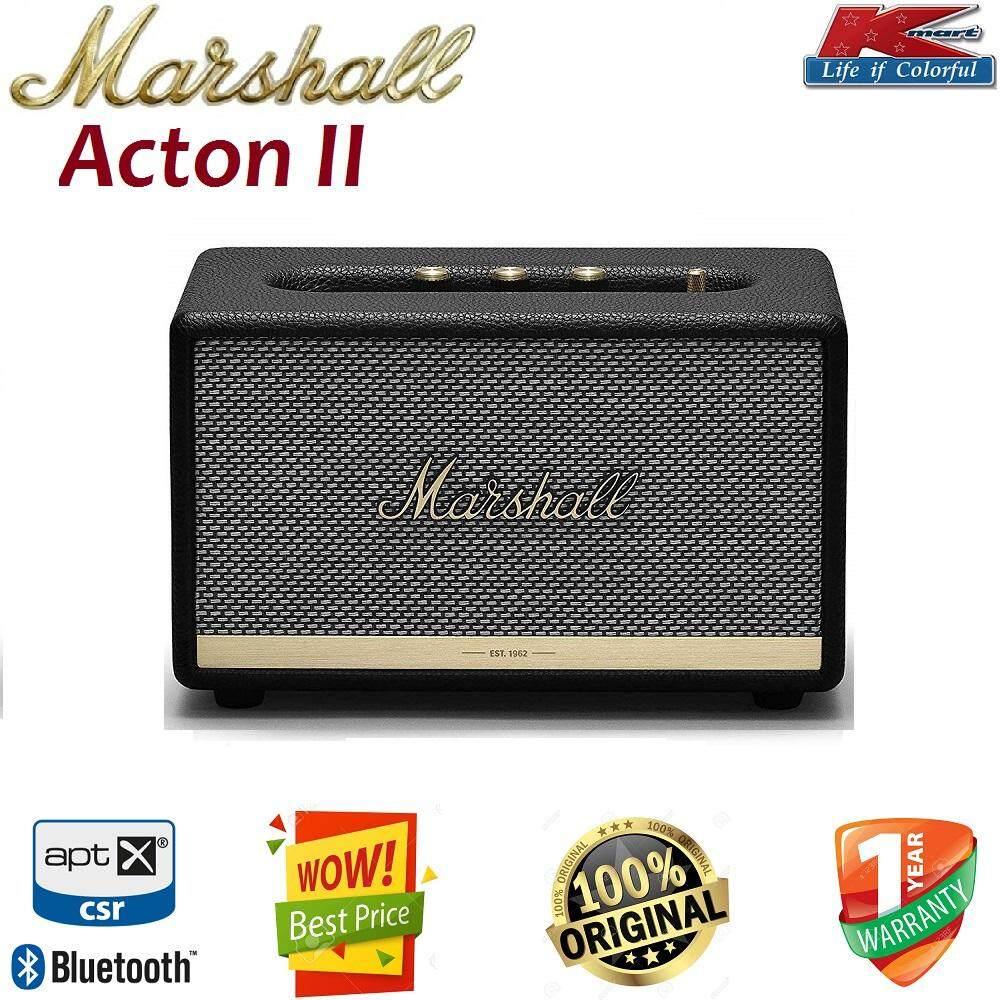 การใช้งาน  แพร่ Marshall Acton II Bluetooth Speaker ลำโพงบลูทูธพกพาวินเทจ สวยหรูด้วยกำลังขับ 60 วัตต์ เบสแน่นเสียงใสชัดเจน ของแท้100%  รับประกันยาว 1 ปี