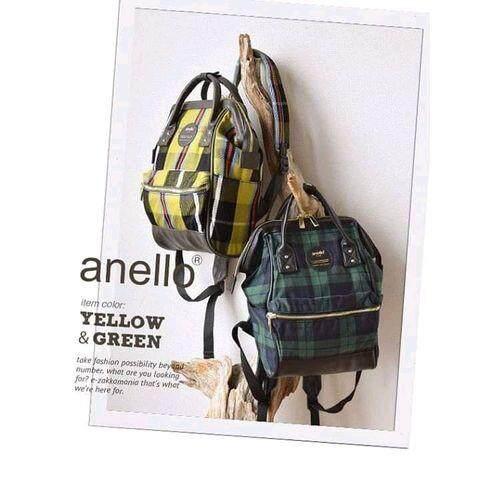 สอนใช้งาน  ตรัง กระเป๋า Anello Checked Hinge Clasp (Mini Size) - Japan Imported แท้ 100%