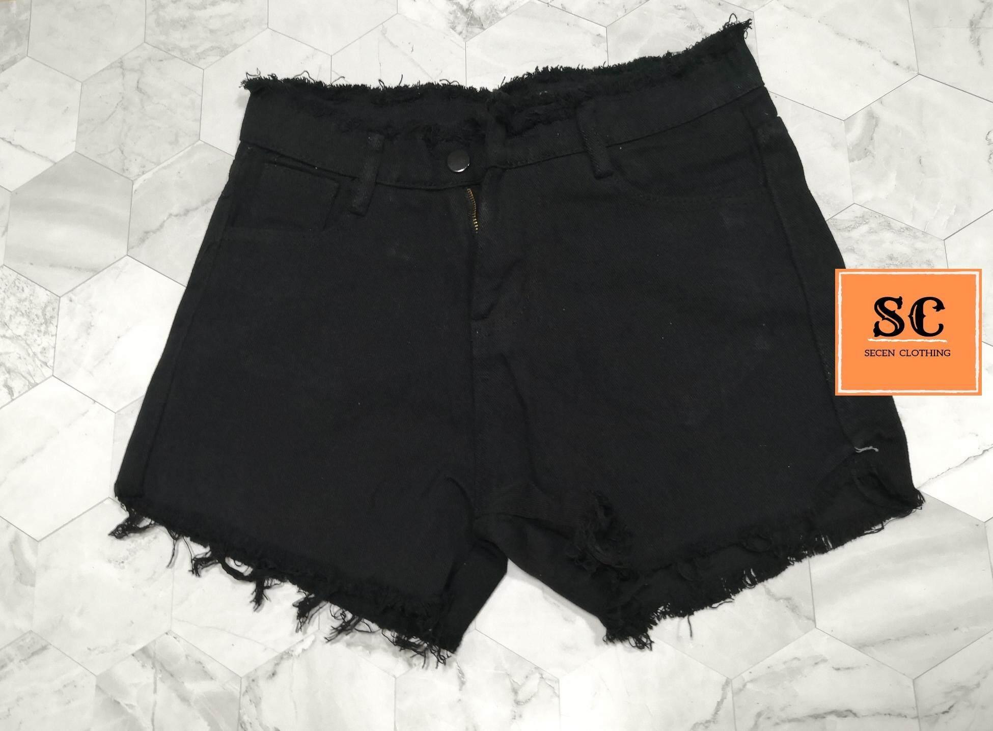 SECEN CLOTHS - กางเกงยีนส์ขาสั้น แฟชั่น มีเก็บเงินปลายทาง ส่งด่วน kerry   --พร้อมส่ง-- (รุ่น J-001)