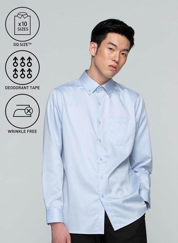 โปรโมชั่น GQWhite  นครสวรรค์ GQSize เสื้อ Shirt - GQ Shirt Long Sleeve 110-275724 Sax Blue