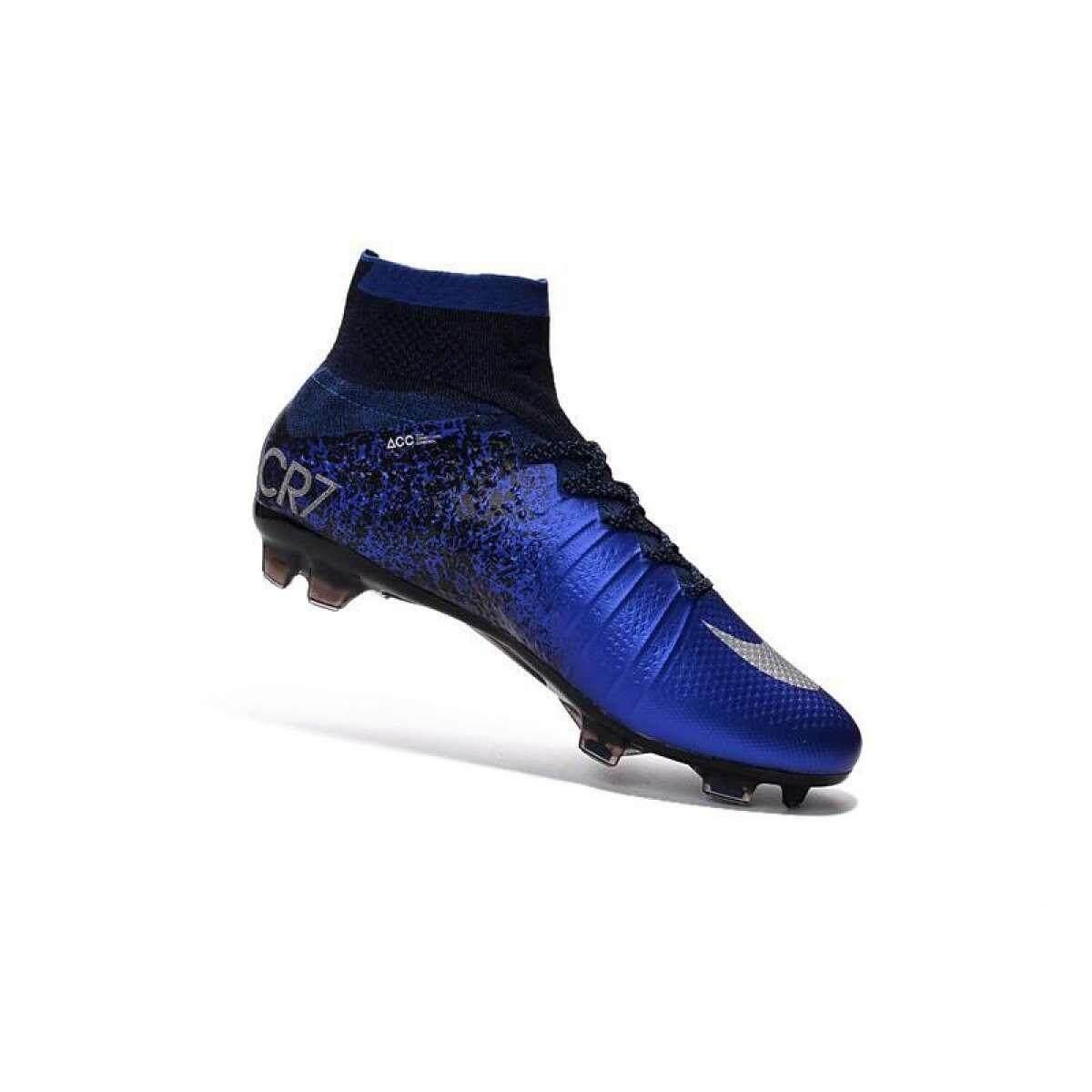 ยี่ห้อนี้ดีไหม  ประจวบคีรีขันธ์ Nike Mercurial SUPERFLY CR7_Ronaldo สีน้ำเงิน
