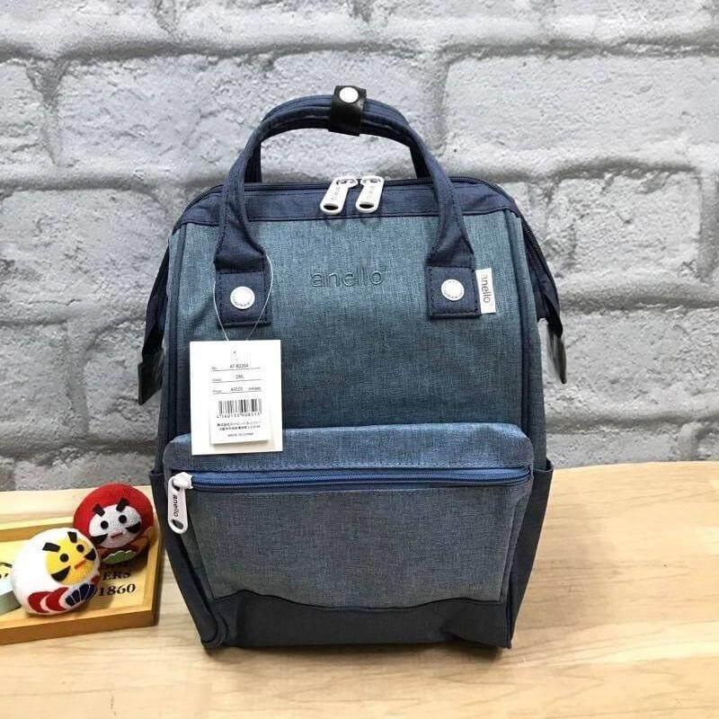 ยี่ห้อไหนดี  นครนายก Anello Mottled Polyester Mini Backpack เป้แบรนด์ดัง วัสดุ poleyester canvas เนื้อผ้าหรูหราและทันสมัย