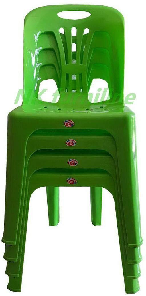 เช่าเก้าอี้ เชียงใหม่ NK Furniline เก้าอี้พลาสติก เกรดAมีพนักพิง ปลายขามียางกันลื่น รุ่น CPA 989 แพ็ค4ตัว