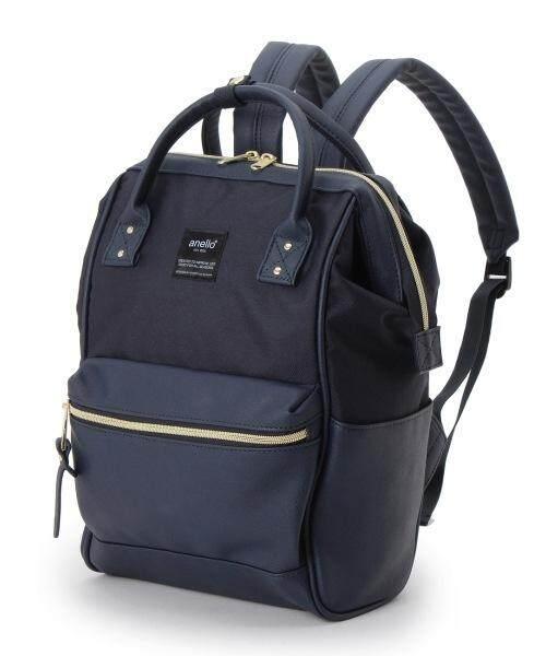 ยี่ห้อนี้ดีไหม  กระบี่ Anello X THE EMPORIUM Limited Edition Canvas X PU Leather Navy MINI SIZE สินค้าแท้จากญี่ปุ่น