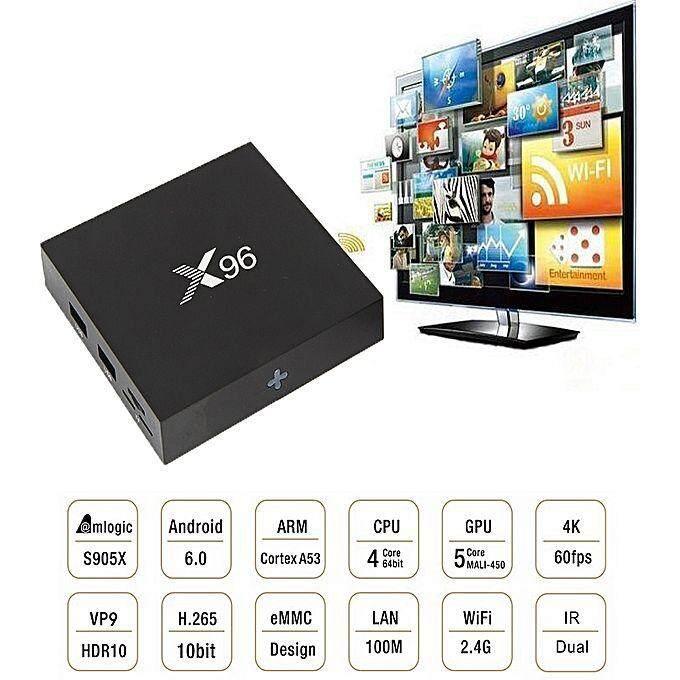 สิงห์บุรี กล่องทีวีดิจิตอล แอนดรอยด์ MXQ X96 Android Smart Box (RAM1GB/Rom8GB  UHD 4K 64Bit Cpu Android Marshmallow 6.0)