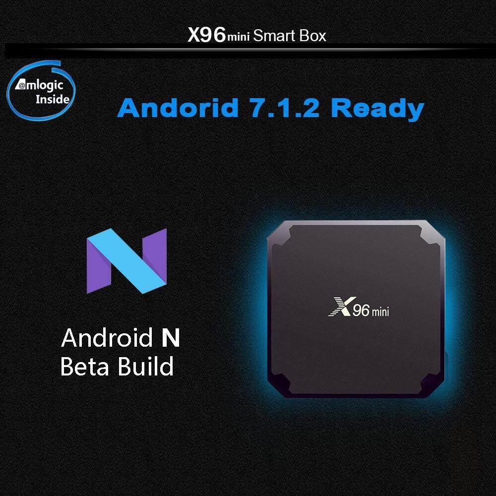 ยี่ห้อนี้ดีไหม  ตาก X96mini TV BOX Android 7.1 X96 มินิมาร์ททีวีกล่อง 1/2 กิกะไบต์ RAM 8/16 กิกะไบต์รอม S905W Quad Core สนับสนุน 2.4 กรัมไร้สาย WIFI สื่อกล่อง Set-Top Box