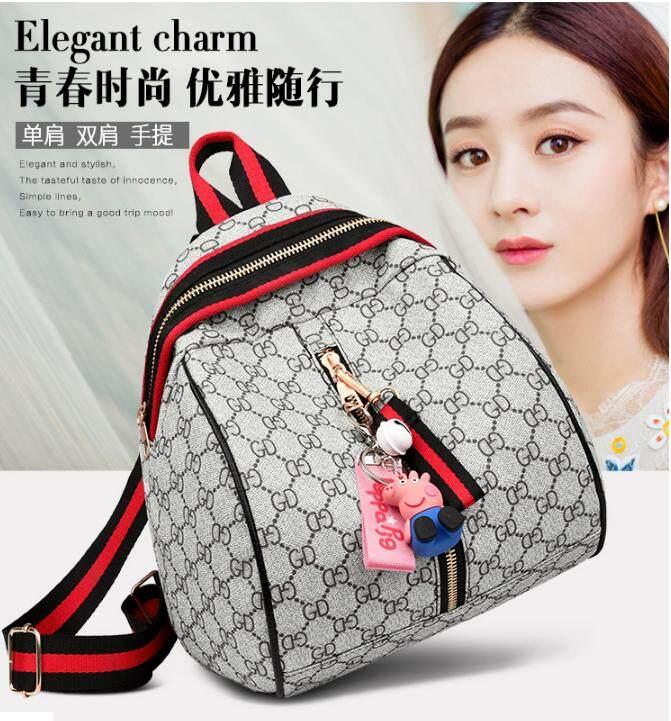 กระเป๋าเป้ นักเรียน ผู้หญิง วัยรุ่น นครปฐม กระเป๋าสะพายหลัง กระเป๋าเป้ กระเป๋าแฟชั่นผู้หญิง รุ่นWomen s fashion bag Shoulder bag