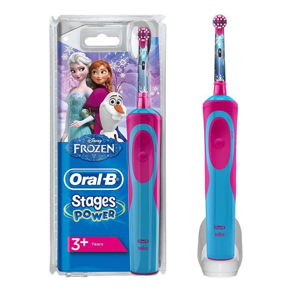 กระเป๋าสะพายพาดลำตัว นักเรียน ผู้หญิง วัยรุ่น ภูเก็ต แปรงสีฟันไฟฟ้าสำหรับเด็ก Oral B Stages Power Kids Electric Toothbrush  Frozen Characters