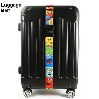 ลดสุดๆ ส่งฟรี kerry !!! ขาย Luggage Belt สายรัดกระเป๋าเดินทาง สายคาด สายล็อค มีรหัสล็อคบนสาย เซซามีสตรีท สีรุ้ง
