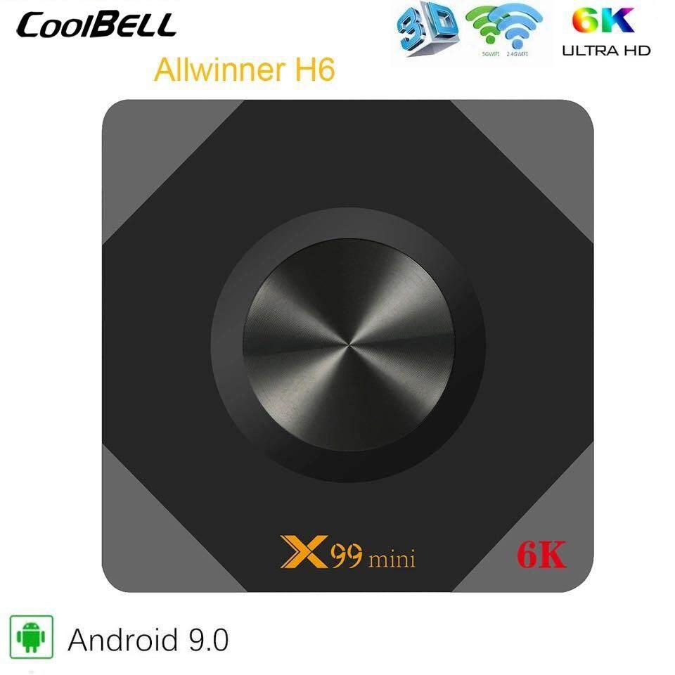 ยี่ห้อไหนดี  ฉะเชิงเทรา X99 Mini Android 9.0 TV BOX Allwinner H6 Quad Core 2.4G/5G Wifi 4GB DDR3 32GB 64GB Smart Android Tv กล่อง 6K HD ชุดกล่องด้านบน