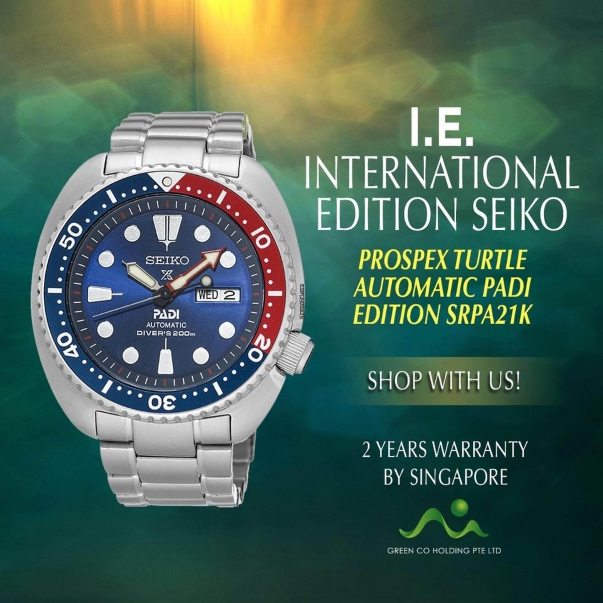 สอนใช้งาน  ประจวบคีรีขันธ์ Seiko นาฬิกาข้อมือ Sports Automatic DIVER 200 M Mens Watch รุ่น SRPA21K1
