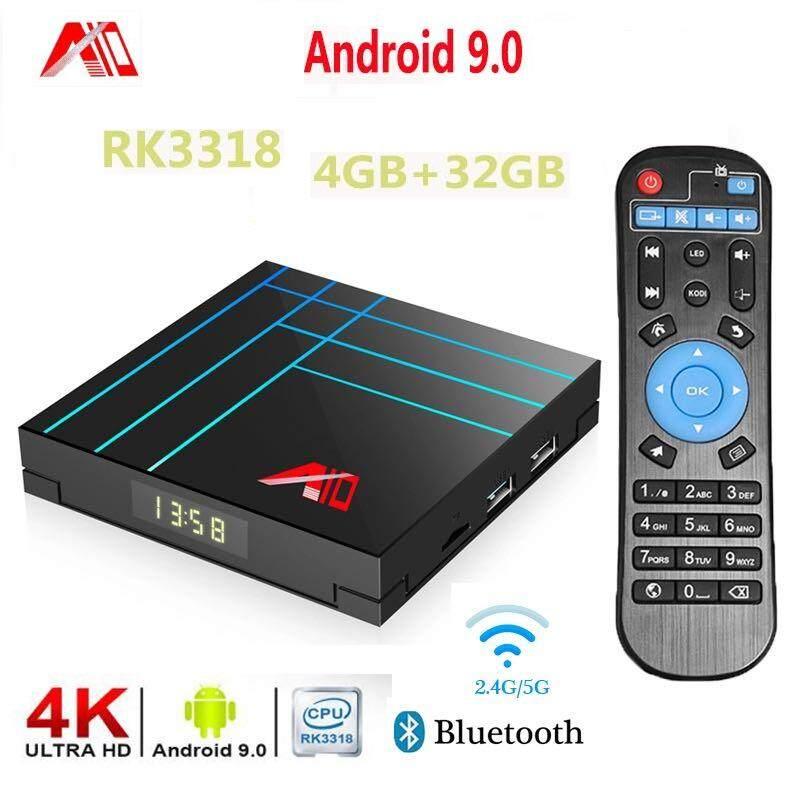 ส่วนลด  ยโสธร A10 สมาร์ท Android 9.0 Tv Box 4GB 32G/ 64GB RK3318 Quad core Youtube ชุดกล่อง 2.4G Wifi h.265 4K HDR Media Player Google Play