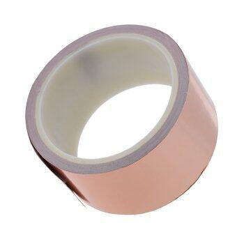 50มม * 10แผ่นเทปหนึ่งทองแดง EMI เดียวนำเอากาวสำหรับกีต้าร์