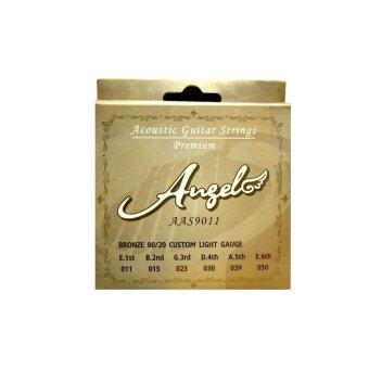 ANGEL สายกีต้าร์โปร่ง รุ่น AAS-9011 ชุด (สาย 1-6) No.11-50