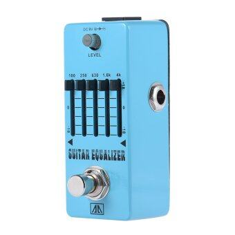 AROMA AEG-5 5-Band Graphic EQ Guitar Equalizer Effect Pedal Aluminum Alloy Body True Bypass - intl