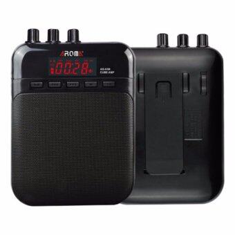 Aroma แอมป์กีตาร์ แบบพกพา รุ่น AG-03M สีดำ (แอมป์กีตาร์โปร่ง, แอมป์กีตาร์ไฟฟ้า, Guitar Amp)
