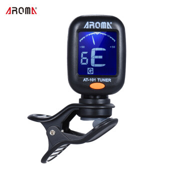 AROMA AT-101 Portable Mini Clip-on Digital Tuner with FoldableRotating Clip High Sensitivity for Chromatic Guitar Bass ViolinUkulele - intl
