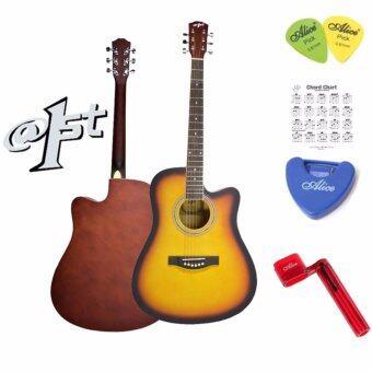 At First กีตาร์โปร่งAcoustic Guitar 41\ รุ่น AG009SB + ปิ๊กกีตาร์ Alice 2 อัน + ที่เก็บปิ๊กกีตาร์ + ที่หมุนเปลี่ยนสายกีตาร์ + ตารางคอร์ด