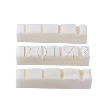 Bass Guitar Bone Nut Saddle Set of 3 White