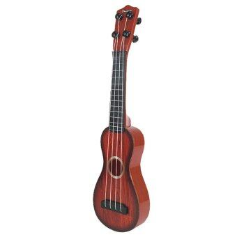 BolehDeals 4 Strings Musical Plastic Toy Ukulele Small Guitar ForBeginners Kids Child - intl