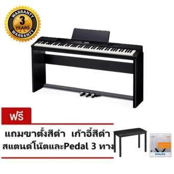 Casio เปียโนไฟฟ้า Digital Piano รุ่น PX-160 BK (Black) พร้อมขาตั้ง + PEDAL+ เก้าอี้
