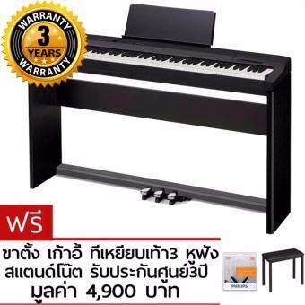 Casio เปียโนไฟฟ้า digital piano รุ่น PX-160 (สีดำ) - ฟรี ขาตั้ง เก้าอี้ สแตนด์โน๊ต pedals3เหยียบ หูฟัง รับประกันศูนย์3ปี