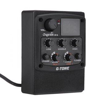 Cherub G-Tone GT-6 Acoustic Guitar Preamp Piezo Pickup 3-Band EQ Equalizer LCD Tuner with Reverb / Delay / Chorus / Wide Effects - INTL