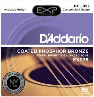 D'ADDARIO สายกีต้าร์โปร่งแบบเคลือบ PH Bronze 11-52 EXP-26