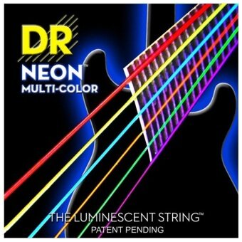 DR Strings Neon Hi-Def Multicolor Electric Guitar Strings รุ่น NMCE-9