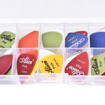 Harga Electric Guitar 24pcs Acoustic Electric Guitar Pick PlectrumAssorted Thickness - intl