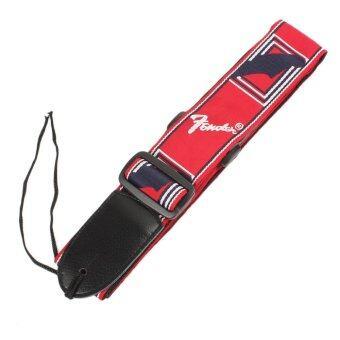 G2G สายสะพายกีตาร์ Fender สีแดง จำนวน 1 ชิ้น
