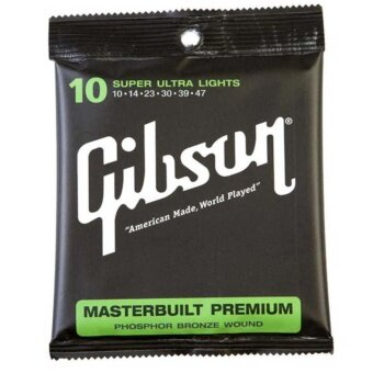 Gibson สายกีตาร์โปร่ง SUPER ULTRA LIGHTS g010