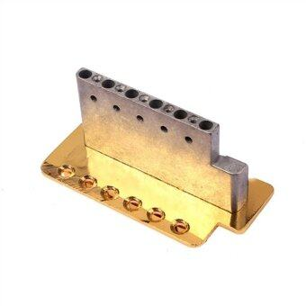 Gold Electric Guitar Tremolo Bridge Single Locking System for StratST Style Guitar Replacement - 5