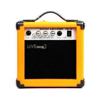 Live Music - Orange Guitar Amplifier แอมป์กีตาร์ขนาด 10W (สีส้ม)